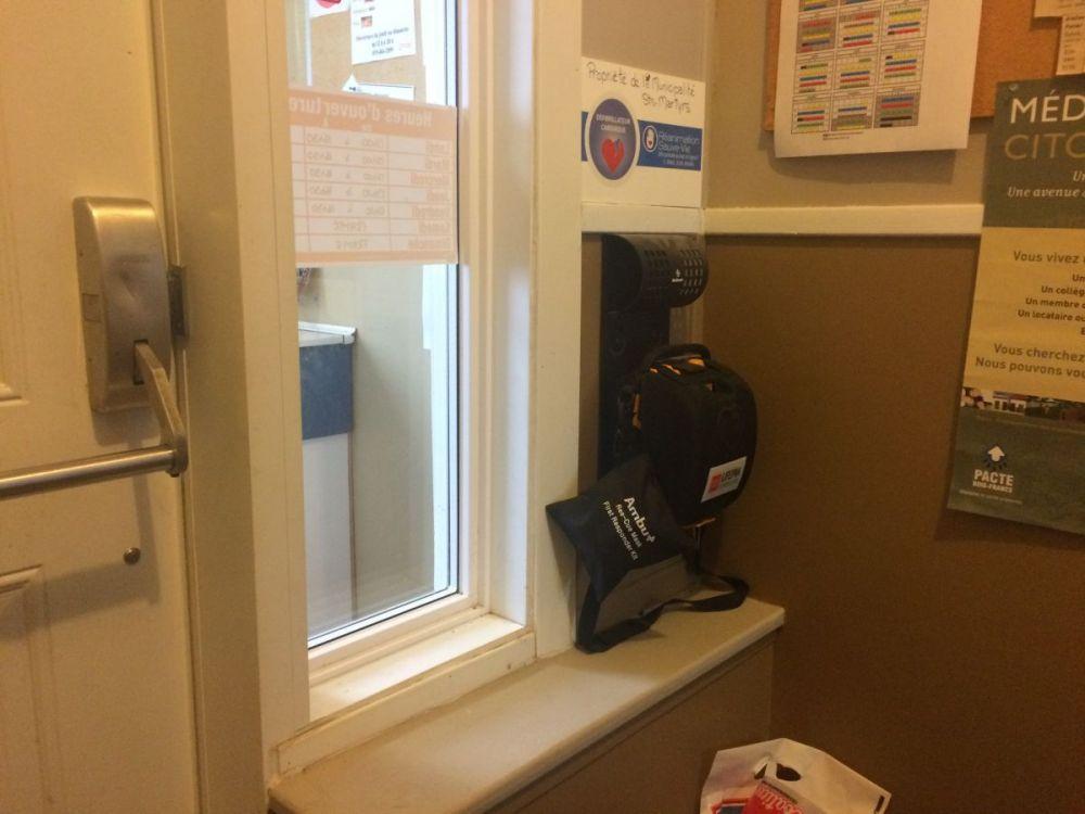 Localisation du Défribillateur Externe Automatisé (DEA) au bureau municipal