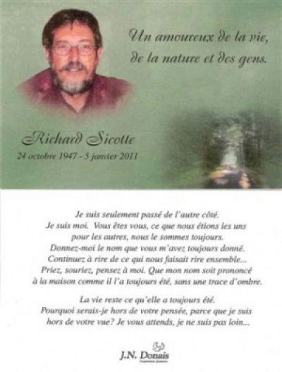 In memoriam - Richard Sicotte